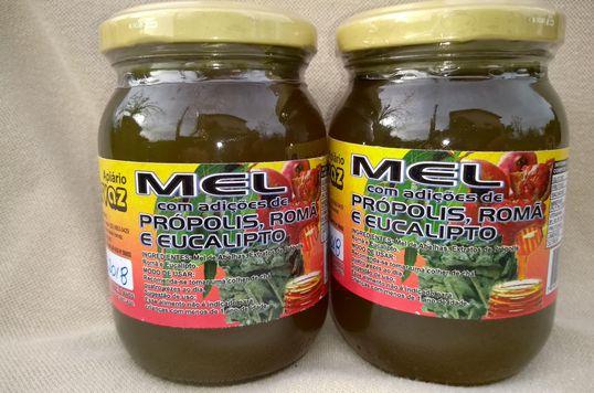 Mel composto silvestre de própolis, romã e eucalipto- Apiário Hervaz