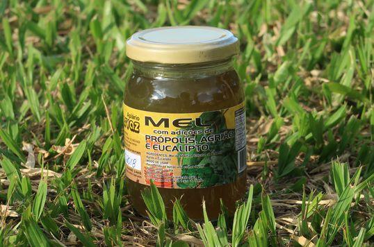 Mel composto silvestre de própolis, agrião e eucalípto - Apiário Hervaz