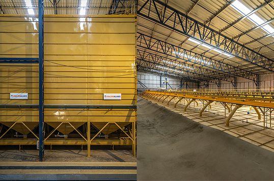 Megaestrutura de granelização de café com capacidade para 270 mil sacas da Cooxupé