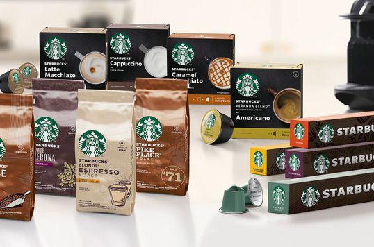 A marca é Starbucks, mas a fabricação é da Nestlé