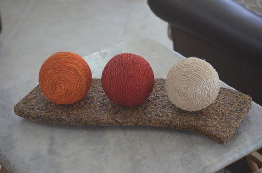 Suporte de bolas em cizal - Artcafé
